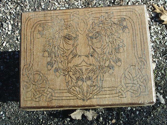 Green Man altar box unique and limited