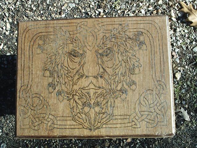Free Name Engraving on this Pagan Greenman Altar Box