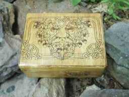 Celtic Greenman Foilage Altar Box