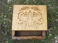 Dancing Kokopelli Scroll Altar Box