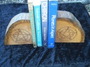 Pentacle Tree Trunk Book Ends