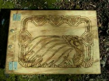 Celtic Dragon and Name Book of Shadows