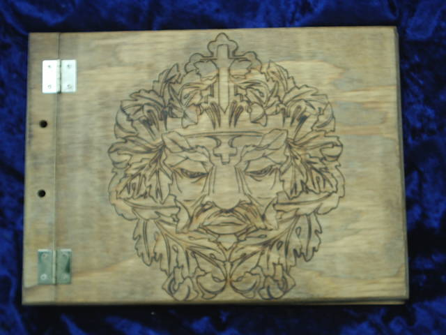 The Green Man Wood Book Of Shadows Scrapbook Personal