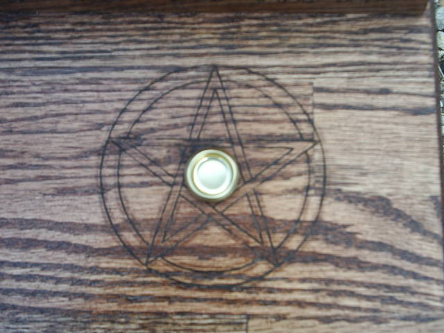 Pentacle protected candle holrder