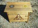 Sun Moon God Goddess Triquetra Altar