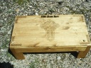 Celtic Cross Coffee table style altar with full storage