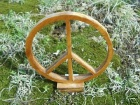 Peace Symbol Wood Scroll