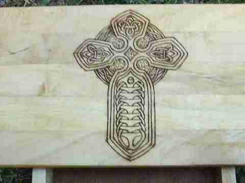 Intricate knotwork as was the foundation of the Celtic spiritual systems
