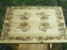 Floral Hand Crafted Night stand
