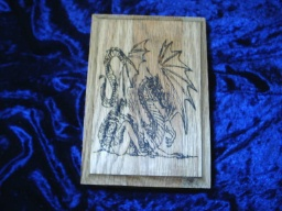 Dragon Tarot Oak Accent Box