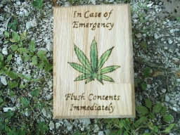 Hemp Humor Oak Accent Box