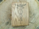 Medical Caduceus Symbol Oak Desk Box