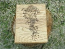 Asian Dragon Oak Desk Box