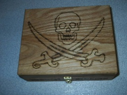 Pirate Treasure Oak Accent Box