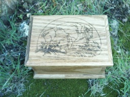 Buffalo Totem Spirit Oak Accent Box