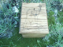Hermit Journey Oak Accent Box
