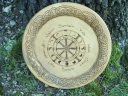 Celtic Knotwork Moon Phase Wheel of the Year Offering Plate
