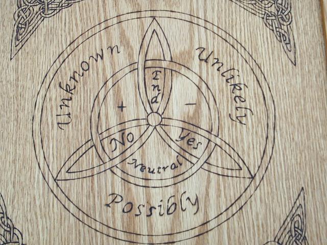 Dragonoaks Triquetra Symbol Pendulum Charts Divination Board