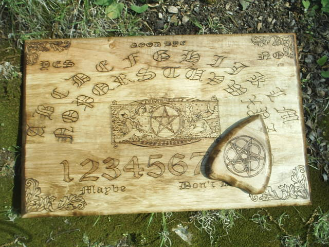 Custom Designed Ouija Board Style Talking Board Solid Wood By Dragonoak