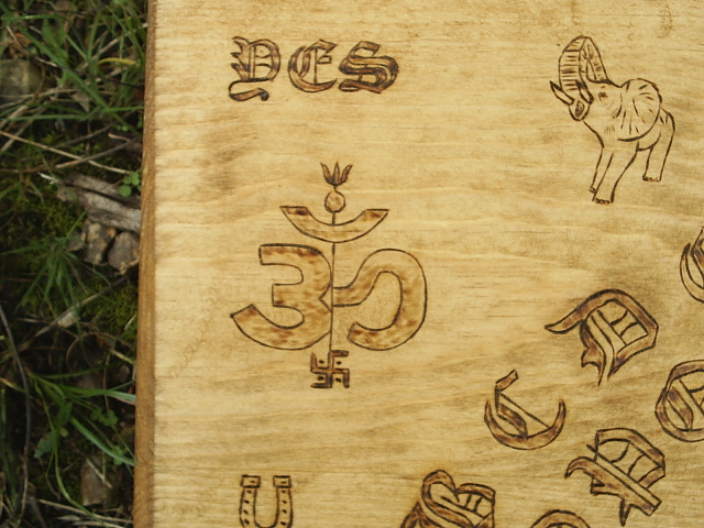 Good Luck Charm Ouija Style Spirit Board For Contacting Spirits