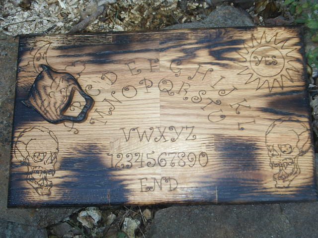 Gothic Undead Spirit Board in Solid Oak