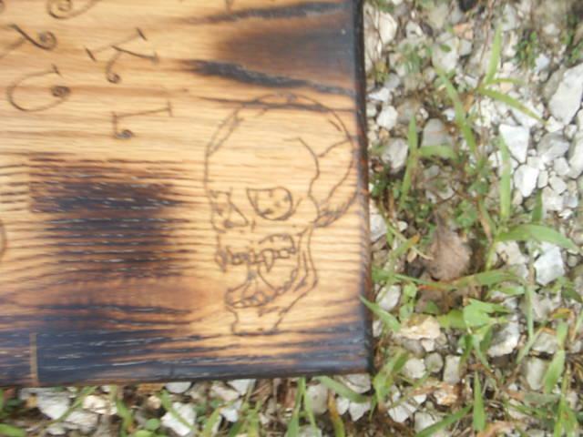 Gothic Undead Spirit Board Skull