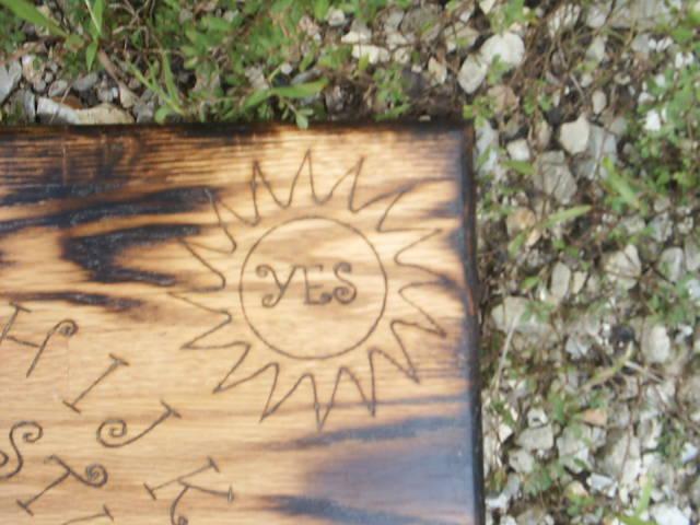 Gothic Undead Spirit Board Sun Symbol