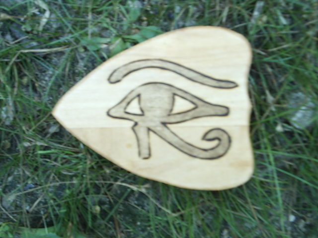 Solid Wood Planchette with the all seeing eye