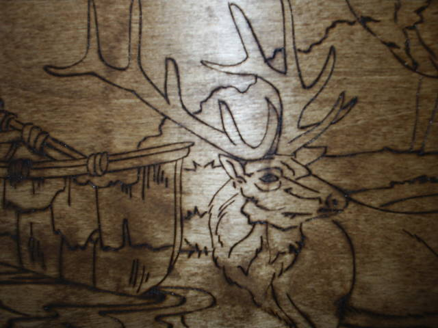 Elk is wood burned by hand for that special attention to detail.