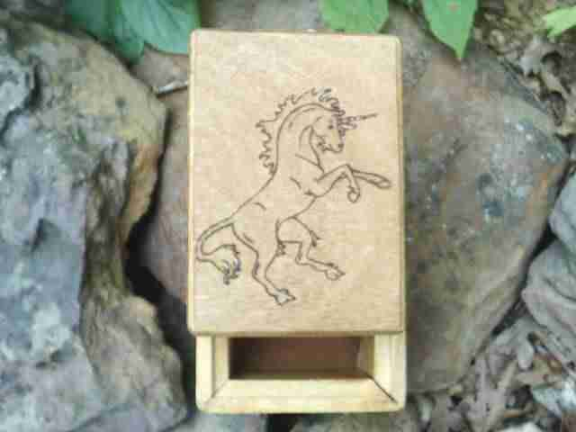 Standing Unicorn Beauty Tarot Cards Box