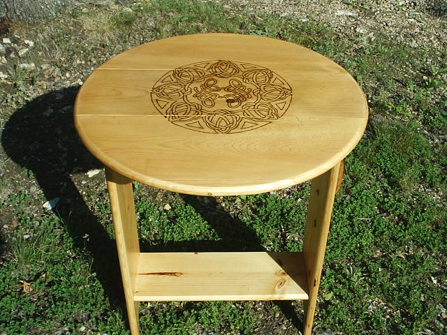 Portable Wood Celtic Tarot Table