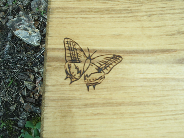 Top butterfly on the Fairy Magick Altar