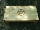 Coffee table style altar with full storage