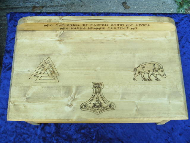 Asatru Altar, Crafted With The Wisdom of Odin, The Might of Thor, and The Passion of Freya