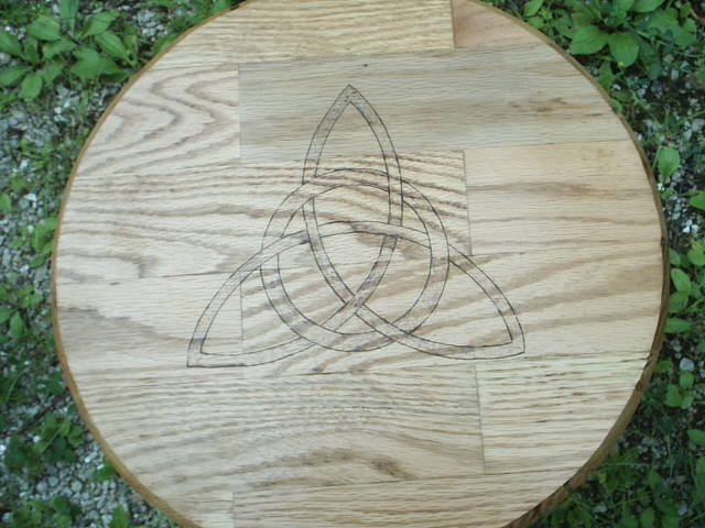 The Power of Three, a universal constant as the tips of the Triquetra