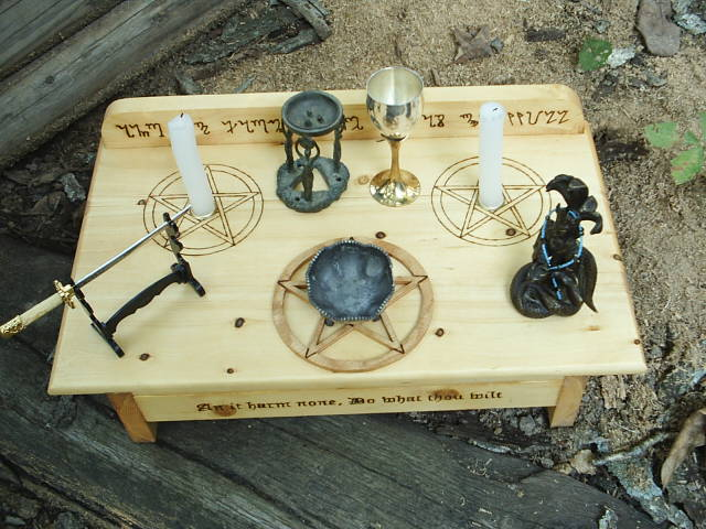 Wiccan Altar Of The Witch By DragonOak