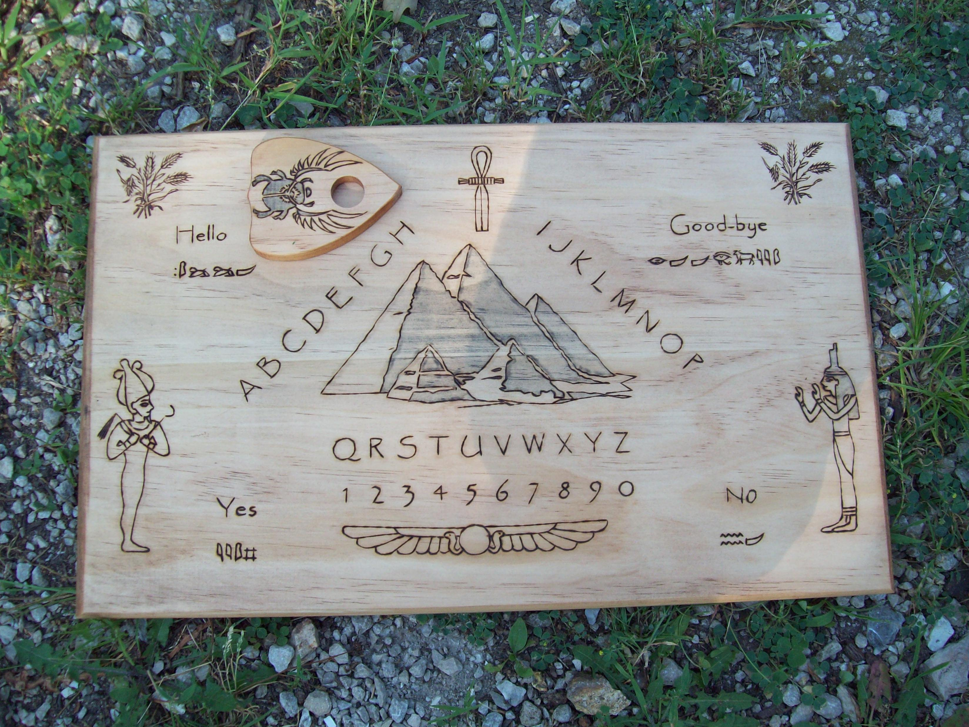 Custom Egyptian Ouija Board