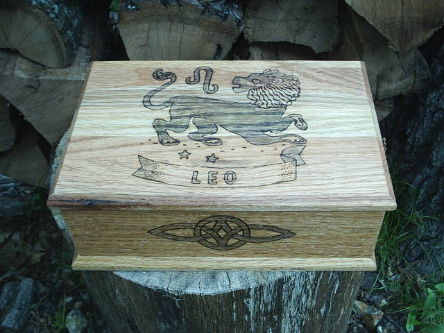 Zodiac Sign of Leo Custom Box