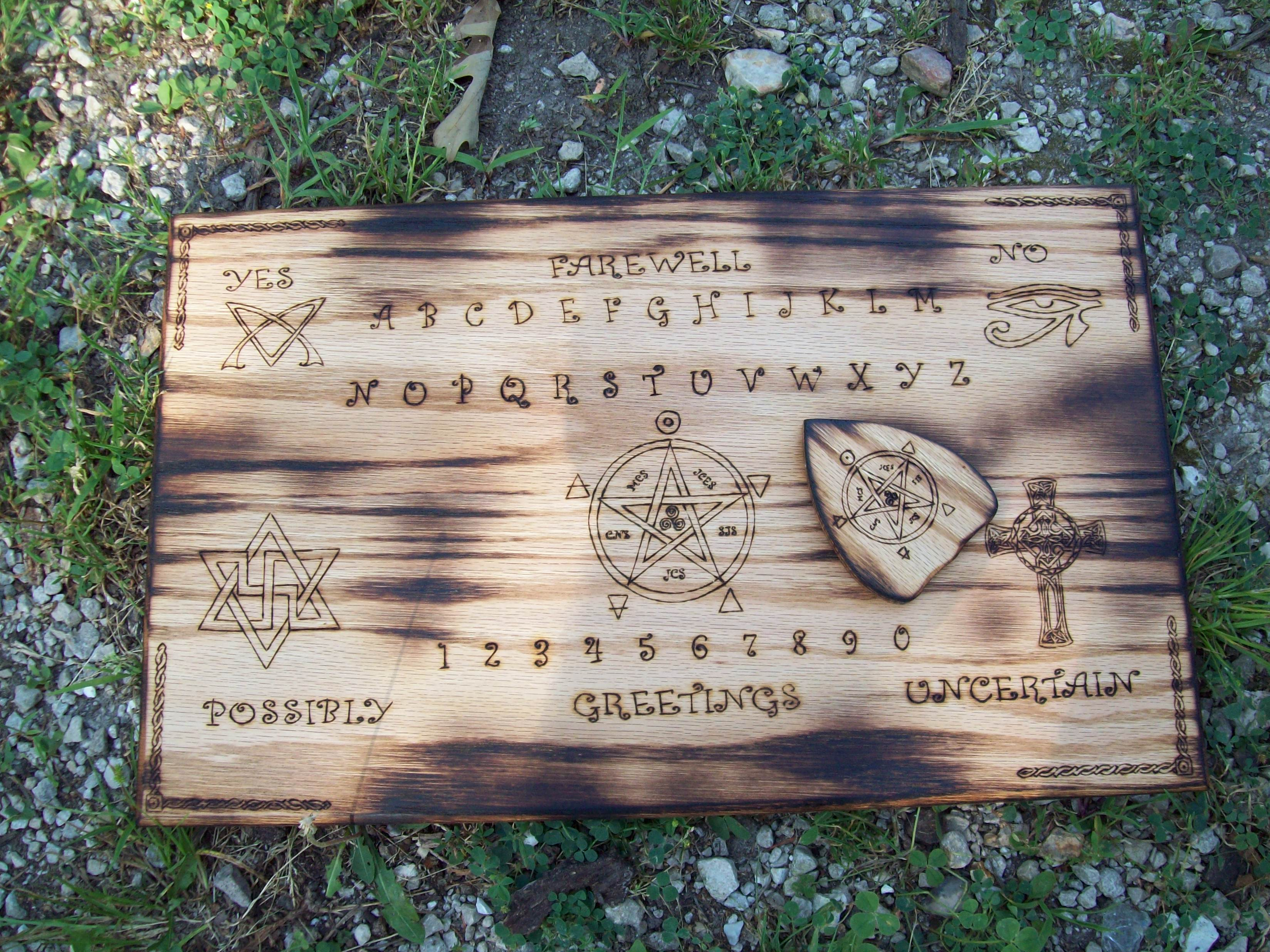 Custom Ouija Board with Magickal Symbols