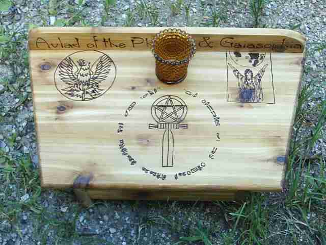 Made of solid cedar, a handfasting gift for a very special couple.