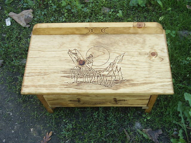 Wolf Totem Animal Spirit Guide Altar with Drawer
