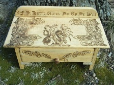 Mythical Dragon Drawings Pagan Altar