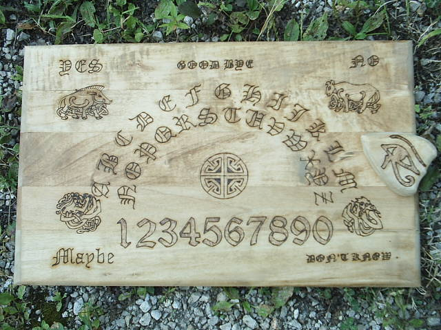 18 X 11 X 3/4 inch ouija board for magickal protection