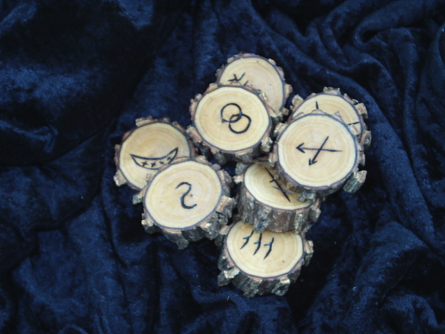 Witches Runes Of Willow Wood For The Practice Of Divination