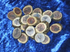 Real Wood Rune Sets cut from wind blown branches